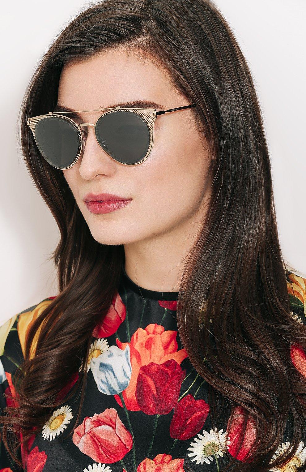 Женские солнцезащитные очки VALENTINO золотого цвета, арт. 2019-30036G | Фото 2