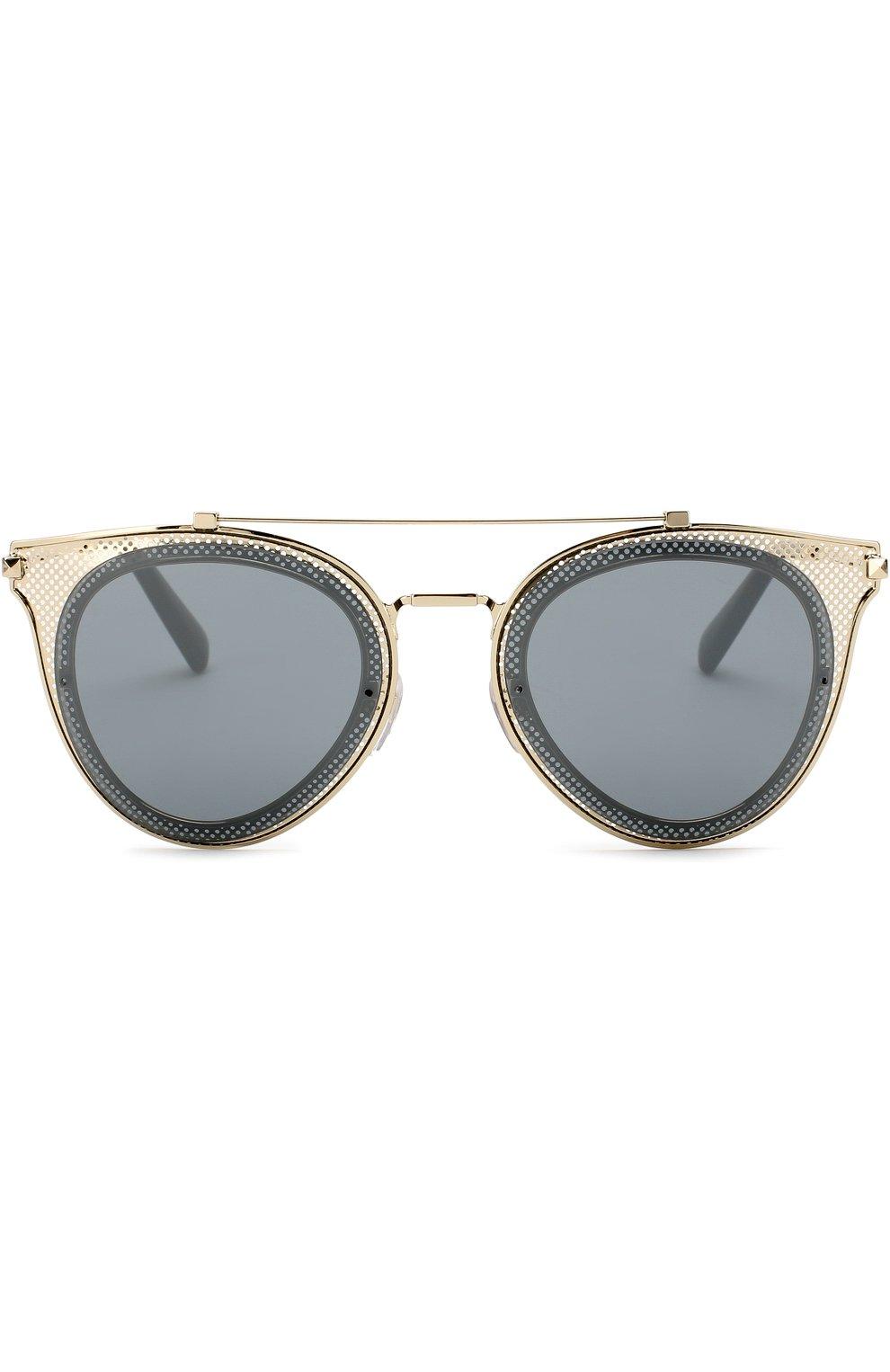 Женские солнцезащитные очки VALENTINO золотого цвета, арт. 2019-30036G | Фото 3