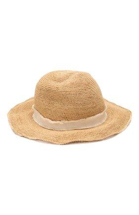 Женская соломенная шляпа с лентой HEIDI KLEIN бежевого цвета, арт. ACRF1255 | Фото 1
