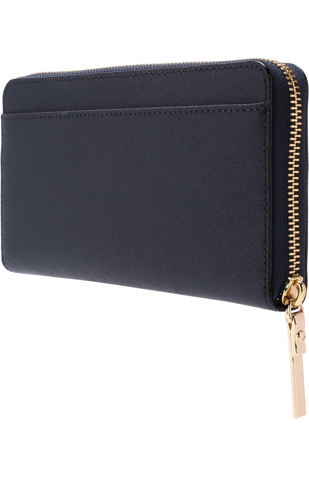 Кожаный кошелек на молнии с логотипом бренда | Фото №2