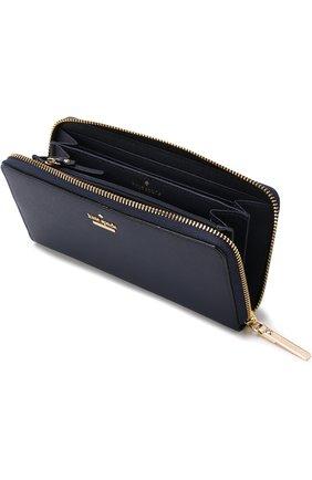 Кожаный кошелек на молнии с логотипом бренда | Фото №3