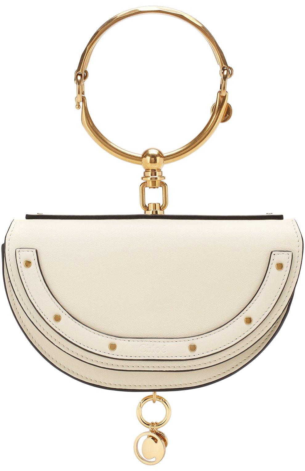 Женская сумка nile minaudière CHLOÉ белого цвета, арт. CHC17US302H5H   Фото 1
