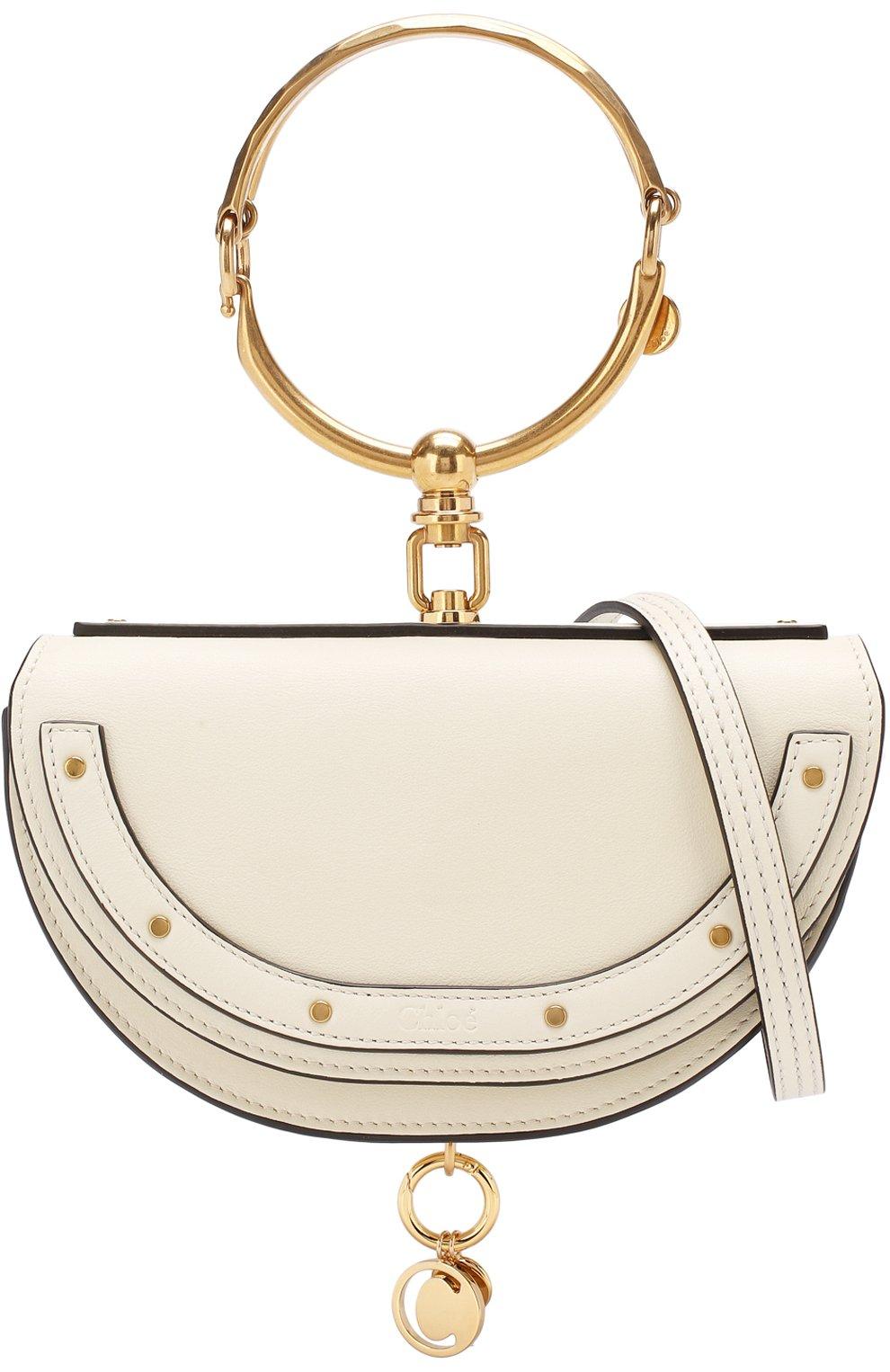 Женская сумка nile minaudière CHLOÉ белого цвета, арт. CHC17US302H5H   Фото 6