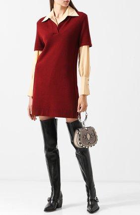 Женские кожаные ботфорты rylee на устойчивом каблуке CHLOÉ черного цвета, арт. CHC18A06121 | Фото 2