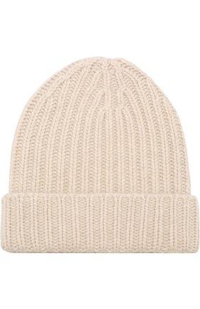 Кашемировая шапка фактурной вязки Vintage Shades бежевого цвета | Фото №1