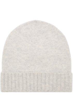 Женский кашемировая шапка бини с отделкой из стразов VINTAGE SHADES светло-серого цвета, арт. 13157L | Фото 1