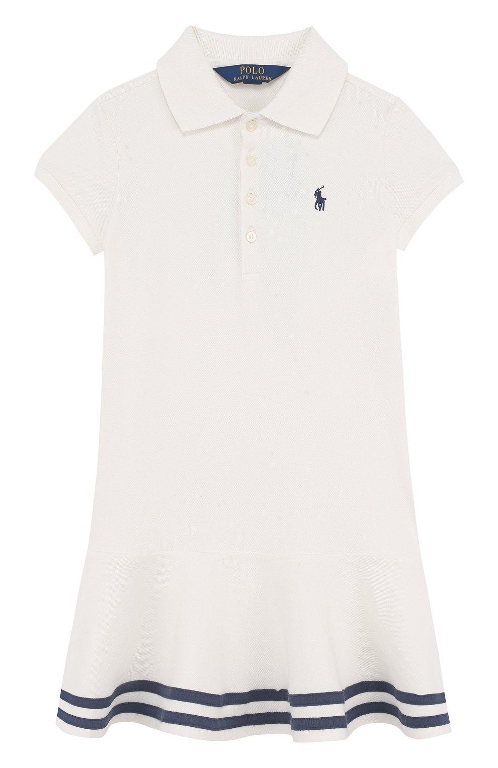 d94d4d2a3ab1 ... отделкой Polo Ralph Lauren. Хлопковое мини-платье с контрастной  отделкой   Фото №1