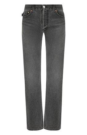 Женские джинсы BALENCIAGA темно-серого цвета, арт. 529184/TXE03 | Фото 1