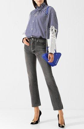 Женские джинсы BALENCIAGA темно-серого цвета, арт. 529184/TXE03 | Фото 2