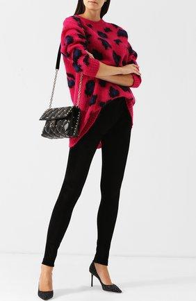 Однотонные бархатные брюки-скинни Tom Ford черные   Фото №1