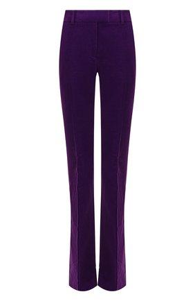 Однотонные расклешенные брюки со стрелками Tom Ford фиолетовые   Фото №1
