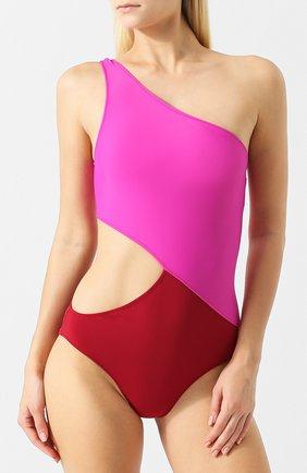 Слитный купальник с разрезом Araks бордовый | Фото №1