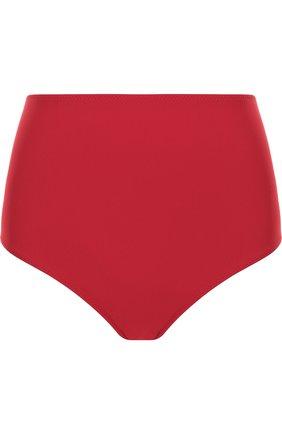 Однотонные плавки-бикини с завышенной талией Araks бордовый | Фото №1