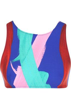 Бра-топ с принтом Araks разноцветный | Фото №1