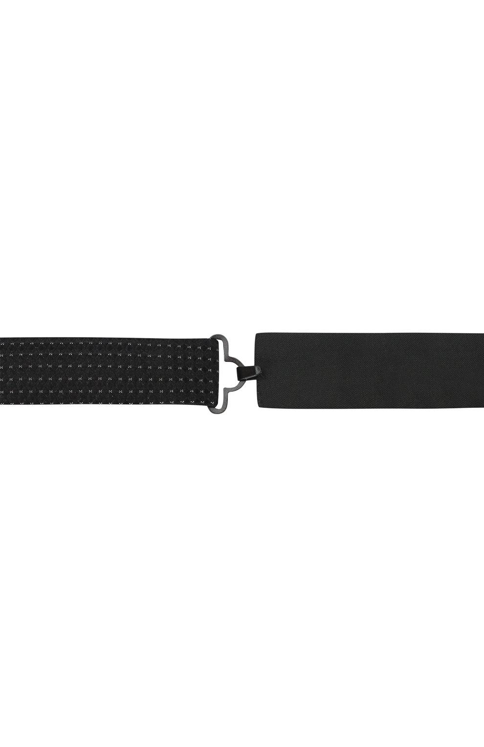 Мужской шелковый галстук-бабочка с узором BOSS черного цвета, арт. 50397831 | Фото 3