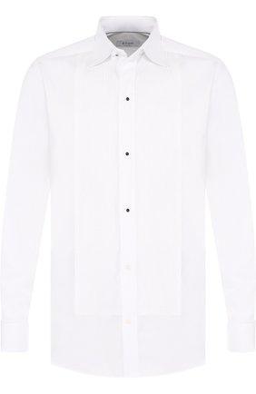Хлопковая сорочка под смокинг Eton белая | Фото №1
