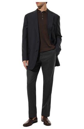 Мужской шерстяные брюки прямого кроя ZILLI серого цвета, арт. M0Q-40-38N--46438/0001 | Фото 2