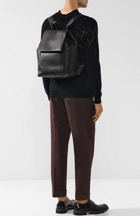 Мужской кожаный рюкзак с клапаном GIORGIO ARMANI черного цвета, арт. Y20096/YDH4J   Фото 2