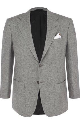 Однобортный кашемировый пиджак   Фото №1