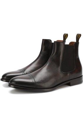 Однотонные кожаные челси Doucal's коричневые | Фото №1
