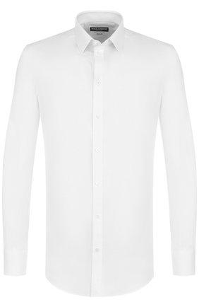 Мужская хлопковая сорочка с воротником кент DOLCE & GABBANA белого цвета, арт. G5EJ0T/FJ5FP | Фото 1