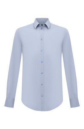 Мужская хлопковая сорочка с воротником кент DOLCE & GABBANA голубого цвета, арт. G5EJ0T/FUMRY | Фото 1