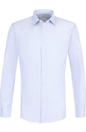 Мужская хлопковая сорочка с воротником кент BRIONI голубого цвета, арт. RCLD0L/07091 | Фото 1
