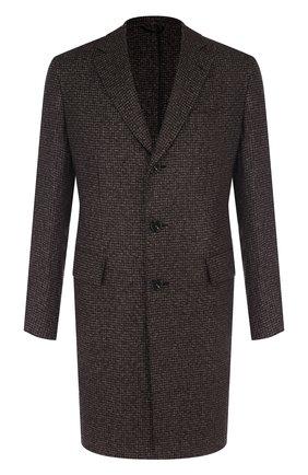 Однобортное пальто из кашемира | Фото №1