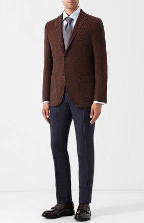 Кожаные монки с двумя пряжками H`D`S`N Baracco темно-коричневые | Фото №1