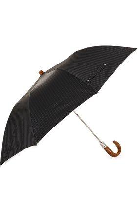 Мужской складной зонт PASOTTI OMBRELLI черного цвета, арт. 64S/RAS0 1084/1/T0PLESS | Фото 2