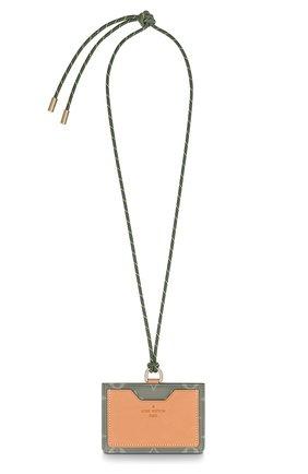 Кожаный футляр для кредитных карт Louis Vuitton серого цвета | Фото №1