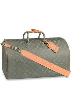 Сумка Keepall Bandouliere Louis Vuitton серая   Фото №1