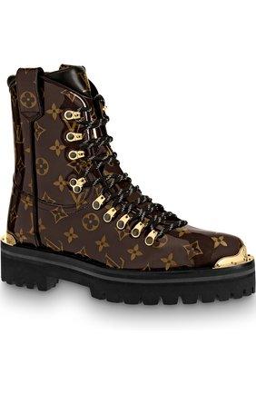 Ботинки LV Outland Louis Vuitton коричневые | Фото №1