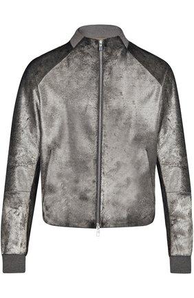 Куртка на молнии Louis Vuitton серая | Фото №1