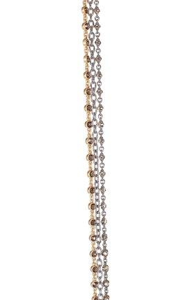 Пояс из цепочек с кристаллами Swarovski St. John золотой | Фото №1
