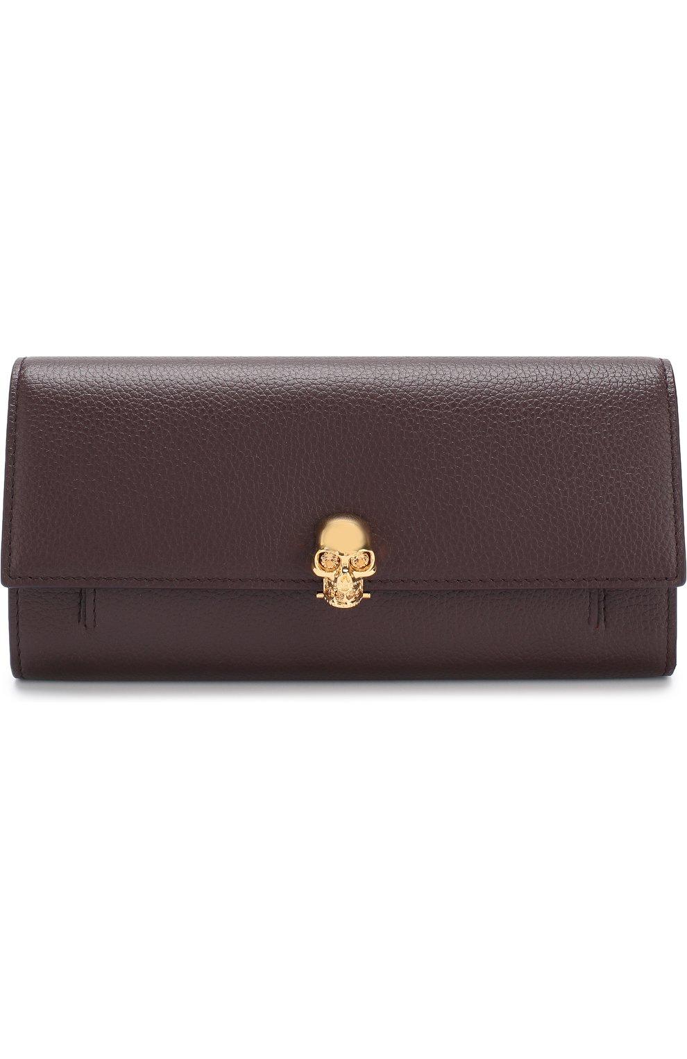 Кожаный кошелек с черепом на цепочке | Фото №1