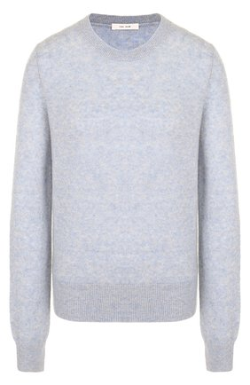 Вязаный пуловер из смеси кашемира и шелка The Row голубой | Фото №1