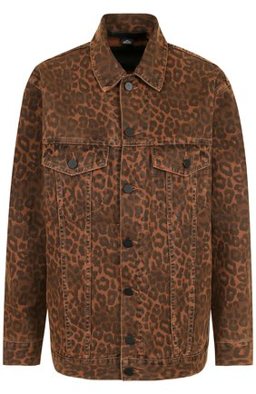Джинсовая куртка с принтом Denim X Alexander Wang разноцветная | Фото №1
