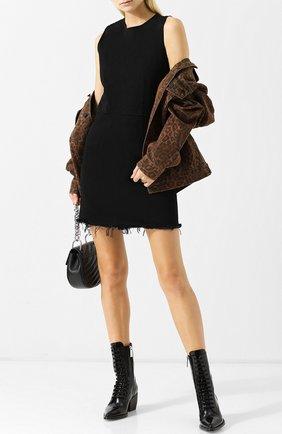 Джинсовое мини-платье с круглым вырезом Denim X Alexander Wang черное | Фото №1