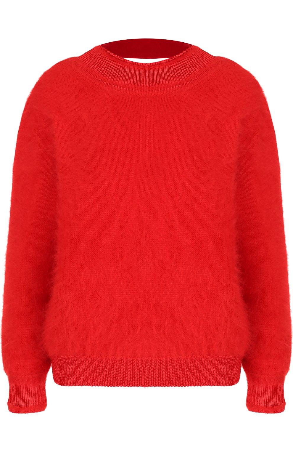 Однотонный пуловер с открытой спиной   Фото №1