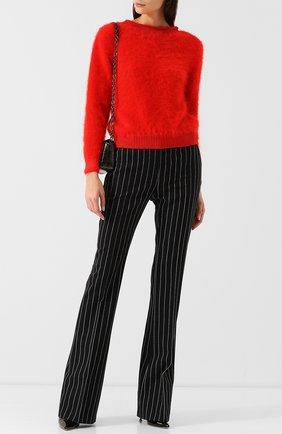 Однотонный пуловер с открытой спиной Tom Ford красный   Фото №1