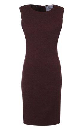 Приталенное мини-платье из смеси шерсти и кашемира | Фото №1