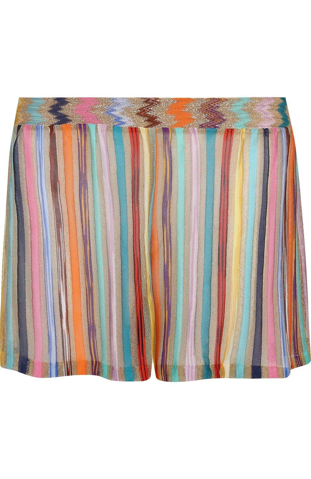 Мини-шорты с эластичным поясом   Фото №1