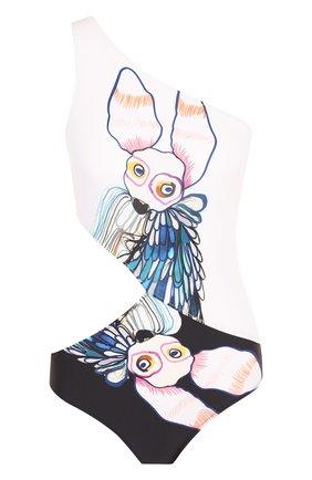 Слитный купальник с принтом и разрезом Araks разноцветный | Фото №1
