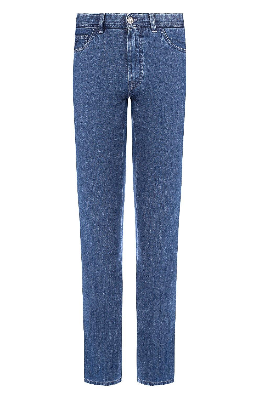 Мужские джинсы прямого кроя BRIONI синего цвета, арт. SPLE0L/07D13/CHAM0NIX | Фото 1