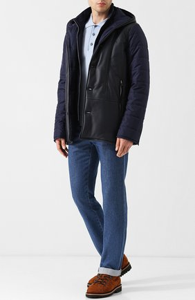 Мужские джинсы прямого кроя BRIONI синего цвета, арт. SPLE0L/07D13/CHAM0NIX | Фото 2