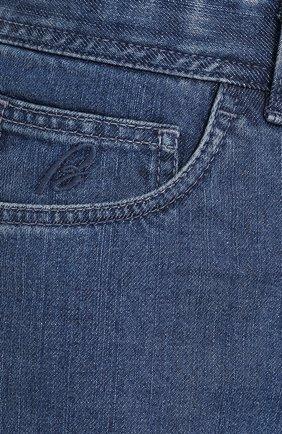 Мужские джинсы прямого кроя BRIONI синего цвета, арт. SPLE0L/07D13/CHAM0NIX | Фото 5