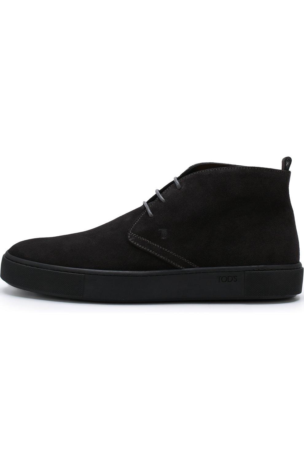 Высокие замшевые ботинки на шнуровке   Фото №3