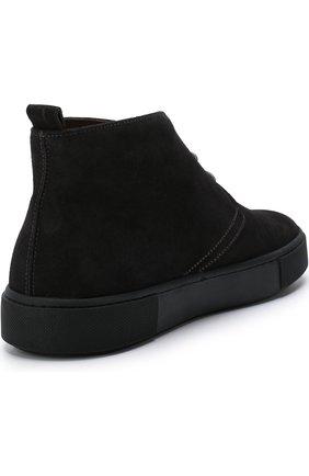 Высокие замшевые ботинки на шнуровке   Фото №4