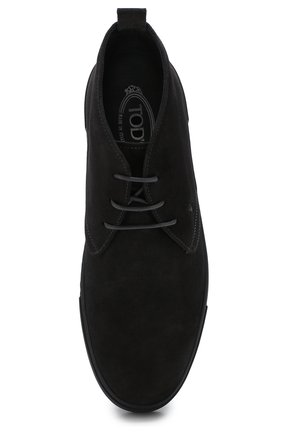 Высокие замшевые ботинки на шнуровке   Фото №5